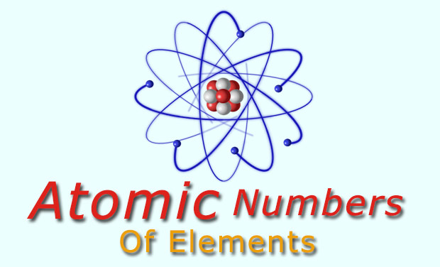 Atomic number of elements